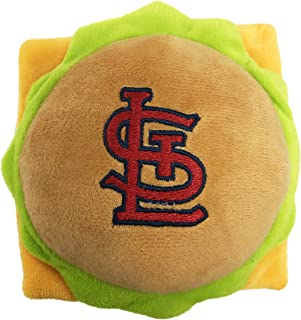 ST LOUIS CARDINALS STADIUM CHEESE HAMBURGER SNACK PLUSH DOG TOY - Cutest Plush Toy for DOGS & CATS with INNER SQUEAKER & P...