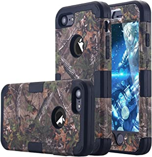 iPhone 7 Case, LONTECT Camouflage Tree Hybrid Heavy Duty Shockproof Case with Dual Layer [Hard PC+ Soft Silicone] Impact Protection for Apple iPhone 7 - Tree Camo/Black