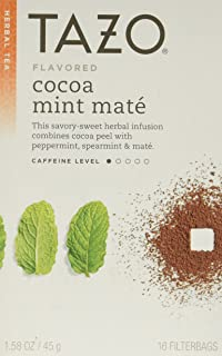 Tazo Cocoa Mint Mate Tea, 16 Count