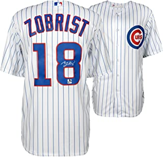 Ben Zobrist Chicago Cubs Autographed White Replica Jersey - Fanatics Authentic Certified - Autographed MLB Jerseys
