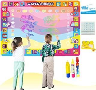 Aqua Magic Doodle Mat 100x70cm Large Water Drawing Doodling Mat Coloring Pat Birthday Gift Educational Toys for 2 3 4 5 6 ...
