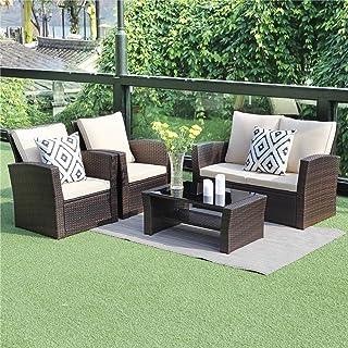Amazon Com Used Wicker Patio Furniture Sets Patio Furniture