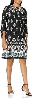 فستان حريمي من Sandra Darren قطعة واحدة 3/4 كم مطبوع Ity Puff Shift