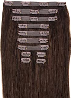Maxy #4 Chocolate Brown Clip In 100% Human Hair Extensions 20