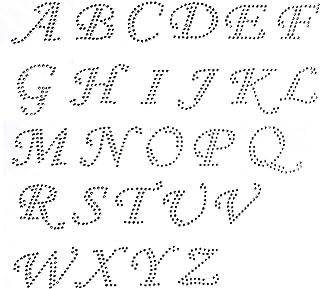 Amazon com: rhinestone letters iron on transfers