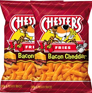 NEW CHESTER'S Bacon Cheddar Fries Flavored Corn & Potato Snacks Net Wt 2.5oz (4)
