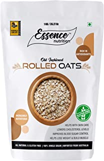 Essence Nutrition Gluten Free Rolled Oats 3 KG (1 KG x 3) - Imported from Australia