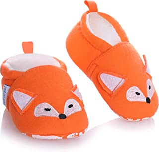 Baby Boys Girls Slippers Cute Cartoon Animal Anti-Slip Warm Winter Crib Shoes Prewalker First Walker Shoes