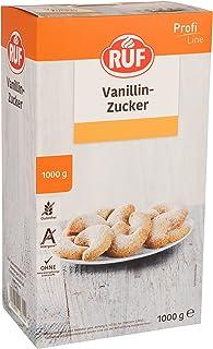 RUF Vanillin-Zucker Großpackung ohne Zusatzstoffe glutenfrei und vegan, 2er Pack 2 x 1000 g