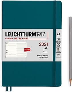 ロイヒトトゥルム 手帳 2021年 1月始まり A5 ウィークリー ソフト パシフィックグリーン 361939