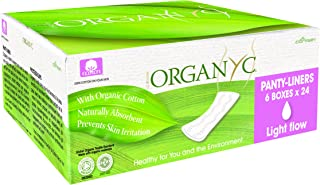 Organyc 100% Organic Cotton Panty Liners for Sensitive Skin, Light, 144 Count