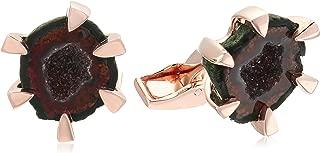 高音极爪镶玫瑰金电镀 1 微米袖口链