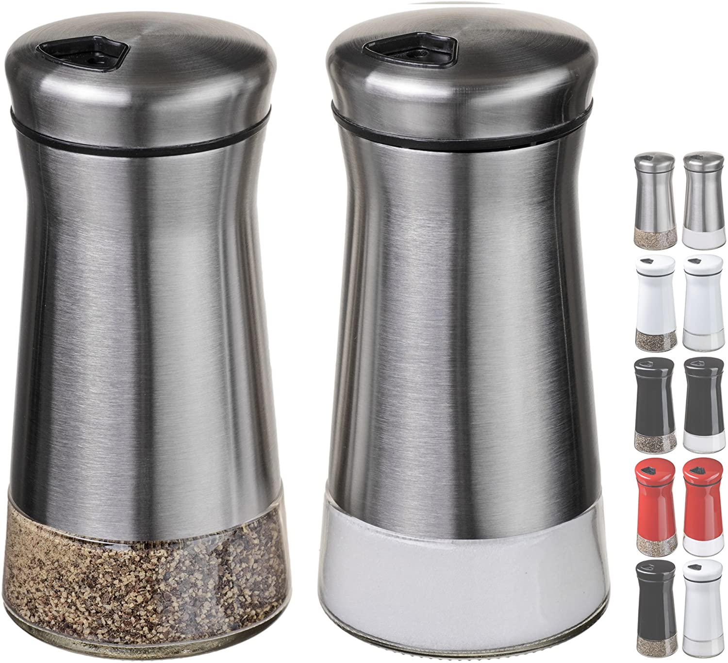 CHEFVANTAGE Regular discount Salt and Pepper Shakers New product Adjustable - Holes with Set