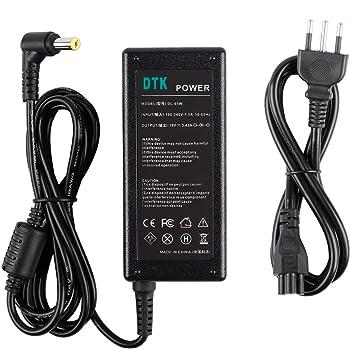 Dtk® Caricatore Notebook Adattatore PC Portatile Alimentatore per Acer Aspire Output: 19V 3.42A 65W Caricatori alimentatori Caricabatterie Connettore: 5.5X1.7MM.