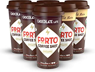 FORTO Coffee Shots – 200mg Caffeine, Variety Pack, Ready-to-Drink on the go, Cold..