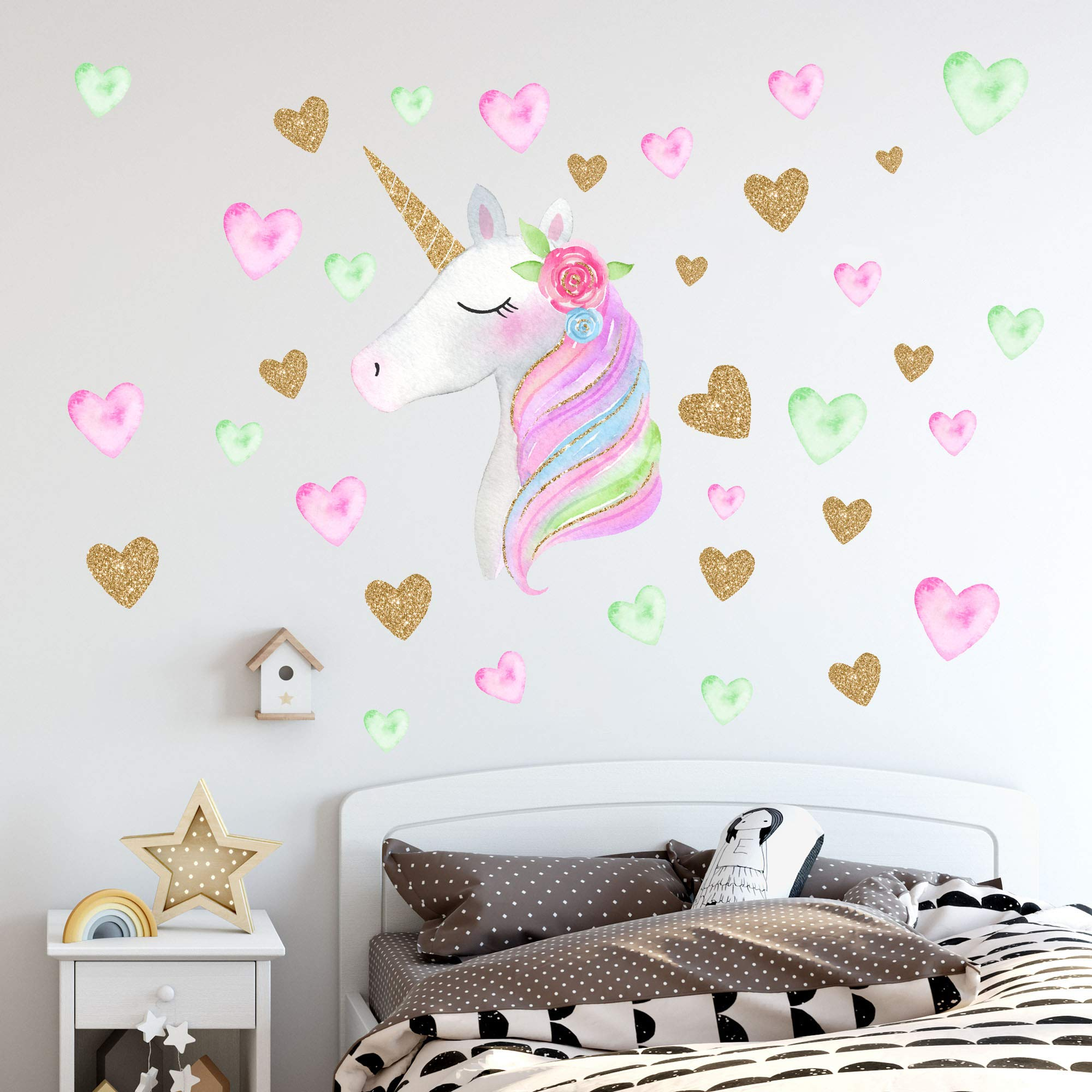 Unicorn Sticker Birthday Christmas Unicorn
