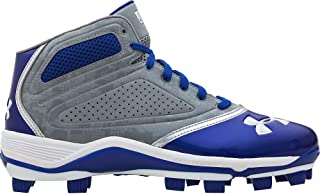 separation shoes 460e6 2ccd0 Under Armour Heater Mid TPU Molded Cleats - Blue - Size 12.5