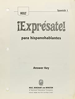 Best expresate spanish 1 answer key Reviews