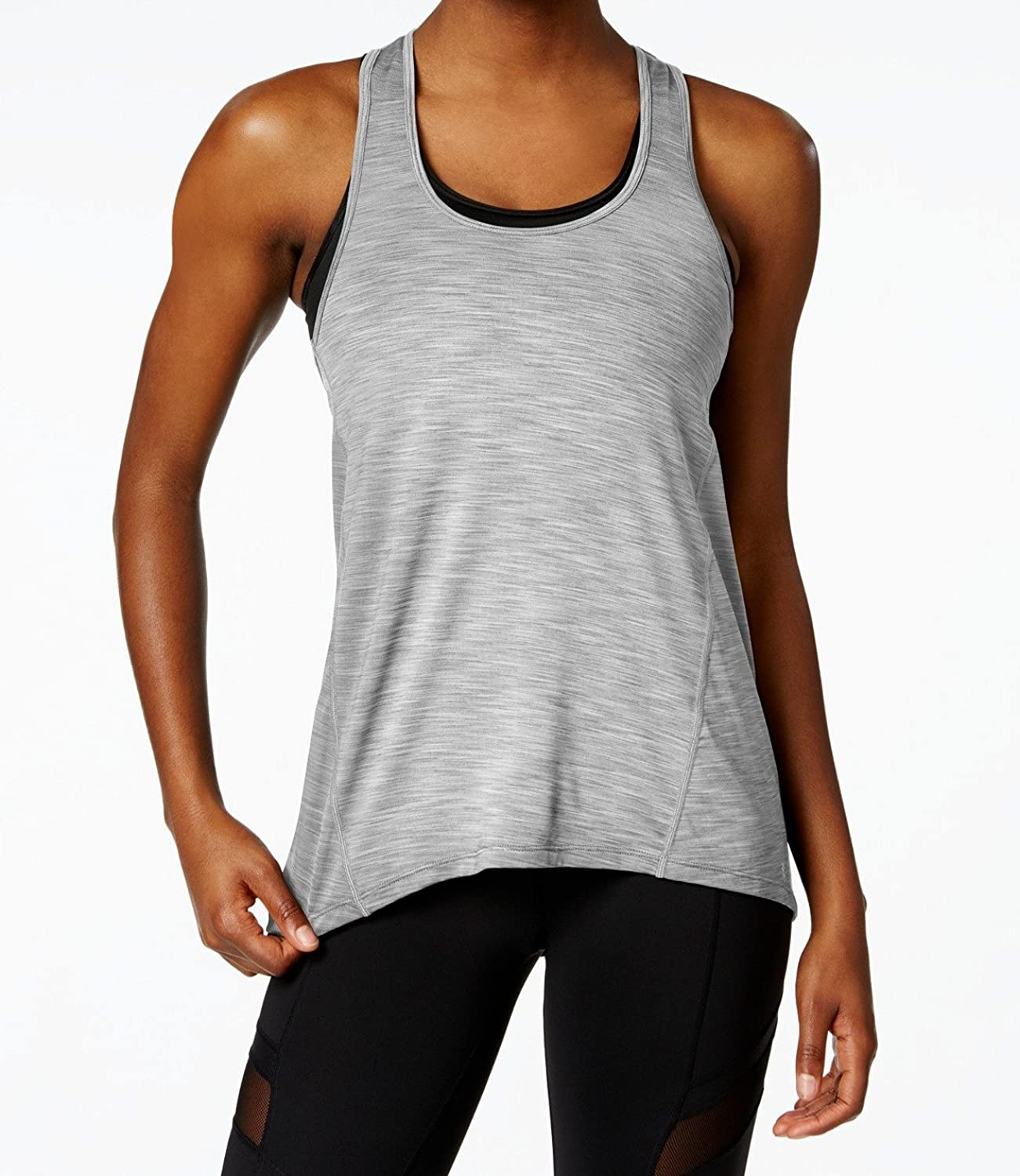 Betsey Johnson Women's SpaceDyed Tank Top, Quick Silver, Large