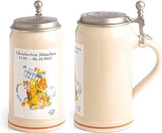 1 Liter Official 2013 Oktoberfest Munich Beer Stein with Lid
