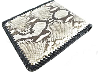 PELGIO Genuine Python Snake Skin Leather Bifold Handmade Wallet