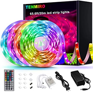 Tenmiro 65.6ft Led Strip Lights, Ultra Long RGB 5050...