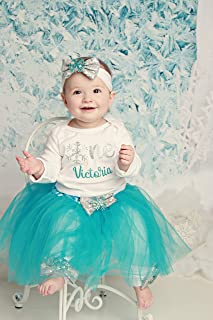 Baby Girl 1st Birthday Outfit, Winter Birthday Shirt, Snow Flake 1st Birthday Outfit, Winter Birthday Party Outfit, Birthday Tutu