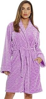 Just Love Kimono albornoza/Albornoz de Terciopelo con Textura festoneada para Mujer
