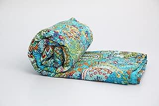 KING Size Kantha Quilt , Kantha Blanket, Bed Cover, Bedspread, Bohemian Bedding 90*108