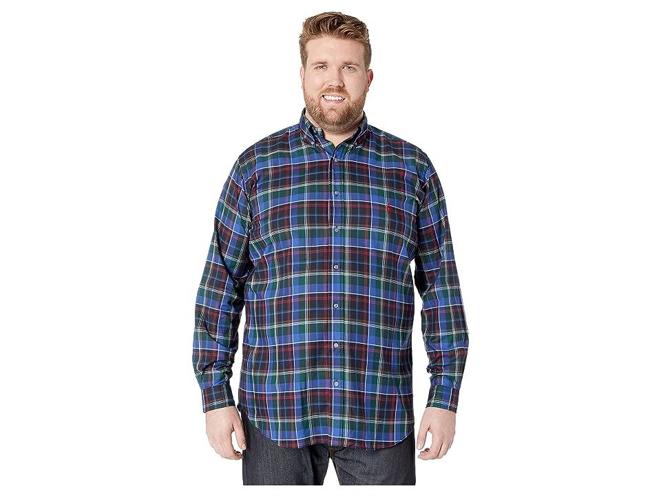 Polo Ralph Lauren Big & Tall Big Tall Twill Sportshirt (Prussian Blue/Beige Multi) Men