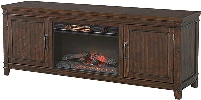 "Martin Svensson Home La Jolla Electric TV Stand with Fireplace, 70"", Coffee Walnut"