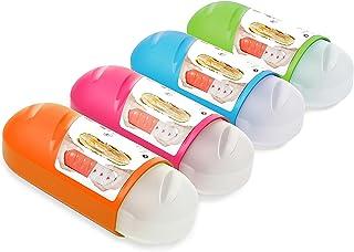 TATAY 1167004 Portabokata Porta Bocadillos Extensible y Reutilizable, Libre de BPA, Apto para microondas, congelador y lavavajillas, 1 Unidad, Colores Surtidos, 7.7 x 6.7 x 18 cm