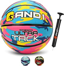 AND1 Ultra Grip Advanced Premium Rubber Basketball (Inflated) OR (Deflated w/Pump Included): Official Regulation Size 7 (2...