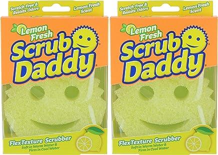Scrub Daddy - Lemon Fresh FlexTexture Scrubber - Scratch-Free & Odor Resistant - 2 Count