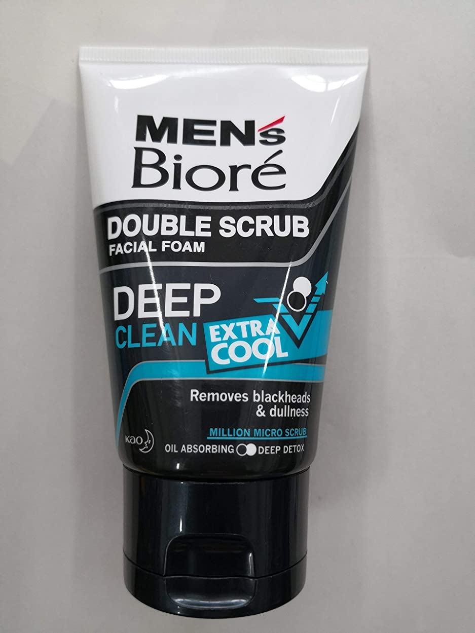 スタジアム批判的疑問を超えてBiore Men's ダブルスクラブ余分なクールな顔泡100グラム、なめらかな明るい&健康な皮膚。 - 非常にクール&さわやかな感覚。