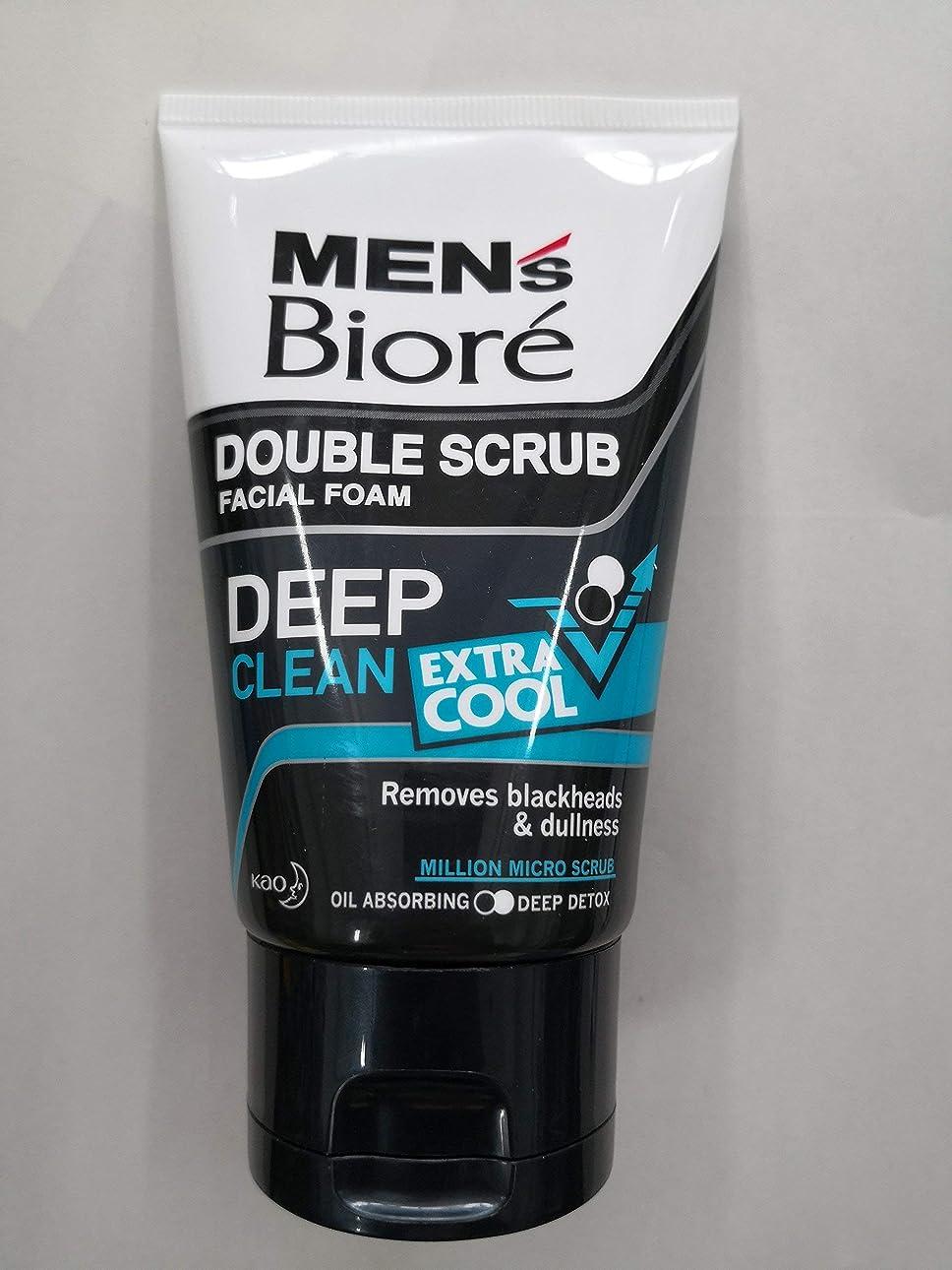 エンドウ日の出アーティキュレーションBiore Men's ダブルスクラブ余分なクールな顔泡100グラム、なめらかな明るい&健康な皮膚。 - 非常にクール&さわやかな感覚。