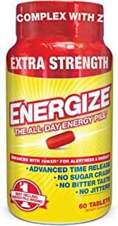 iSatori Energize Extra Strength Caffeine Pills - Fast Acting Long-Lasting Energy Pill - Extended-Release Ca...