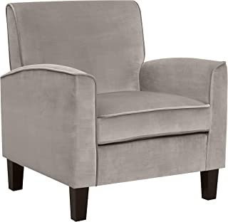 Ravenna Home Christian Upholstered Mid-Century Modern Accent Chair, 31.89