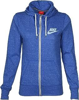 Nike Women's Vintage Gym Hoodie Blue Sail Jacket Full Zip Size:Large