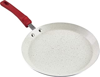 "IMUSA USA IMU-25069 11"" Nonstick Marble Interior Comal with Soft-Touch Handle, Ruby Red"