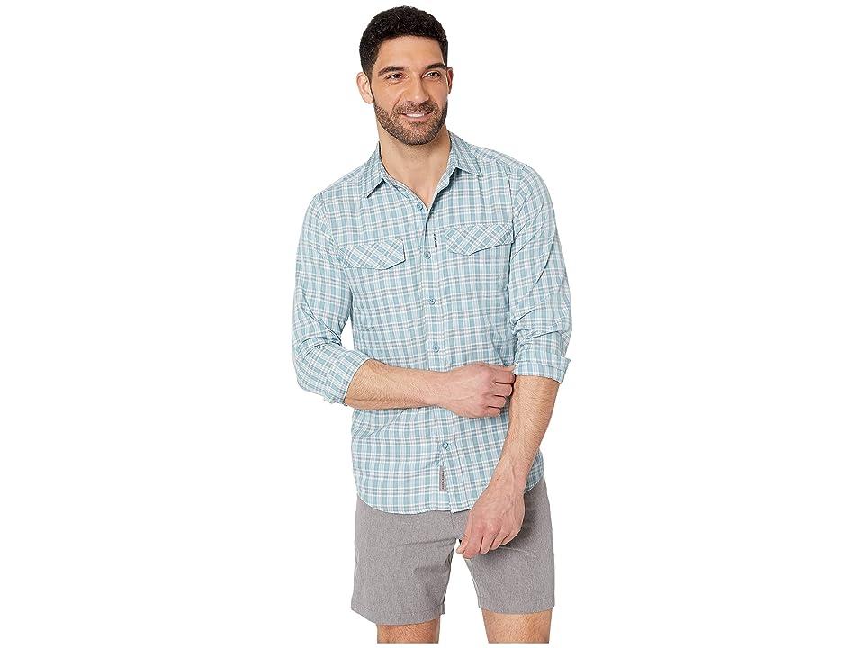 Royal Robbins Ultra Light Long Sleeve Shirt (Smoke Blue) Men