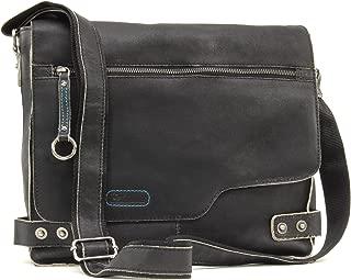 Ashwood Messenger Bag - Cross Body/Shoulder/Work Bag - Genuine Leather - Camden 8353 - Black
