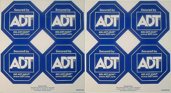 ADT Authentic Security Decals Window Stickers