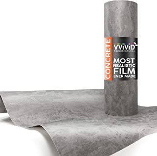 VViViD Grey Concrete Textured Finish Vinyl Sheet Film (16 Inch x 6.5ft)