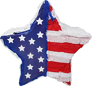 Patriotic Star 4th of July Party Pinata - Kids Game and Handcrafted Decoration