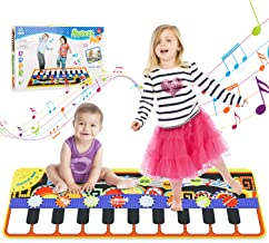 WOSTOO Music Mat, 19 Keyboard PlayMat Piano Mat Dance Floor Mat with 8 Selectable Musical Instruments Early Education for Kids Toddler Girls Boys, 43.3'' x14.2''