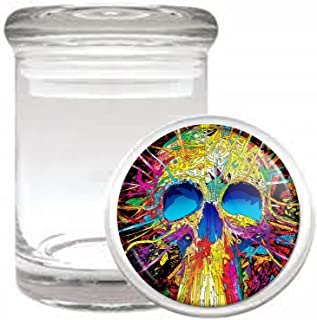 Psychedelic Skull Medical Odorless Glass Jar