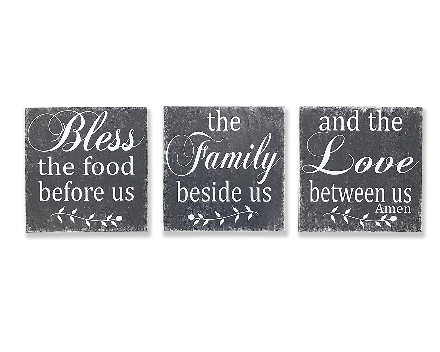 Bless Max 68% OFF The Food Before Us Sign Wall Sale special price Wallhanging Kitchen Wood