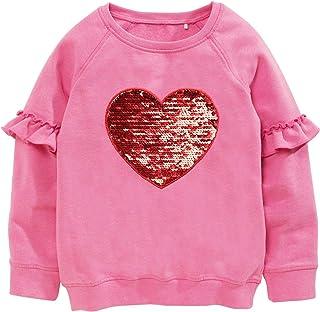 Girls Cotton Hoodie Dinosaur Unicorn Pullover Sweatshirts Toddler Long Sleeve Kids Tee Top