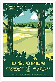 2009 us open golf poster